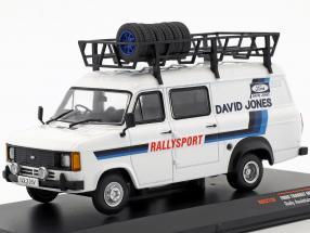 Ford Transit MKII year 1979 Rallye Assistance David Jones White 1:43 Ixo