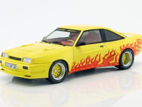 Opel Manta B Mattig year 1991 yellow / orange 1:18 Model Car Group