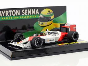 16-Car Set Ayrton Senna Racing Car Collection with certificate 1:43 Minichamps
