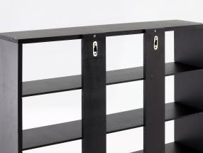 Hochwertige Wandvitrine / Vitrine aus Holz für Modellautos dunkelbraun 60 x 50 x 14,5 cm