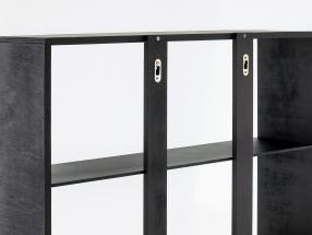 Hochwertige Wandvitrine / Vitrine aus Holz für Modellautos dunkelbraun 60 x 64 x 15 cm
