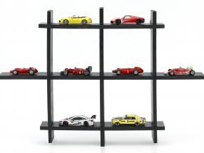 Hochwertige Vitrine / Wandvitrine aus Holz für Modellautos dunkelbraun