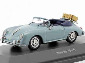 Porsche 356 A Cabriolet travel time blue 1:43 Schuco