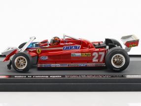 Gilles Villeneuve Ferrari126CK #27 3rd Kanda GP Formel 1 1981