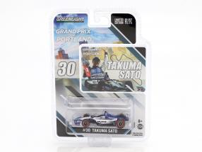 Takuma Sato Honda #30 Winner Portland GP Indycar Series 2018 1:64 Greenlight