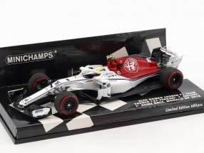 Charles Leclerc Sauber C37 #16 First Home Race Monaco GP F1 2018 1:43 Minichamps