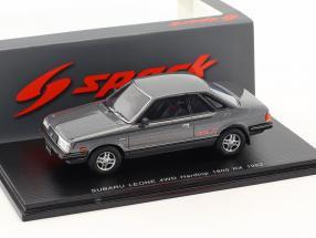 Subaru Leone 4WD Hardtop 1800 RX year 1982 silver gray metallic 1:43 Spark