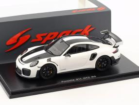 Porsche 911 (991 II) GT2 RS Weissach Package 2018 white / black 1:43 Spark