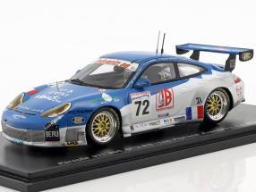 Porsche 911 (996) GT3 RS #72 24h LeMans 2002 Alphand, Thevenin, Lavielle 1:43 Spark