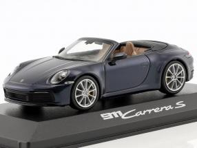 Porsche 911 (992) Carrera S Cabriolet year 2019 night blue metallic 1:43 Minichamps