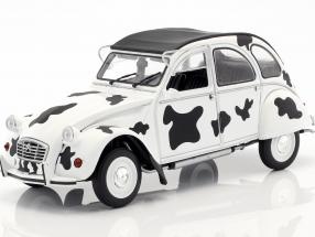 Citroen 2CV6 Vache year 1986 white / black 1:18 Solido