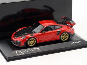 Porsche 911 (991 II) GT2 RS year 2018 guards red 1:43 Minichamps