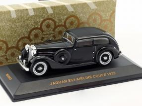 Jaguar SS Airline Coupe year 1935 black 1:43 Ixo