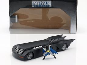 Animated Batmobile with Batman figure matt black 1:24 Jada Toys