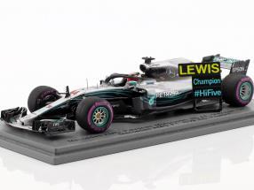L. Hamilton Mercedes-AMG F1 W09 EQ Power+ #44 Weltmeister Mexiko GP F1 2018 1:43 Spark