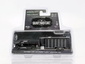 Ram 2500 2016 with display trailer TV show Graveyard Carz (since 2012) black 1:64 Greenlight
