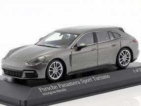 Porsche Panamera 4S Diesel Sport Turismo Baujahr 2017 achatgrau metallic 1:43 Minichamps