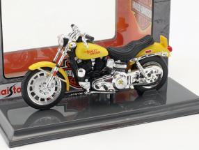 Harley-Davidson FXS Low Rider Baujahr 1977 gelb 1:18 Maisto