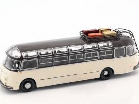 Isobloc 648DP bus year 1955 dark brown / cream white 1:43 Altaya