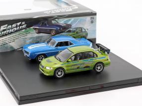 Fast and Furious 2-Car set Chevrolet Camaro and Mitsubishi Lancer 1:43 Greenlight