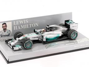 L. Hamilton Mercedes F1 W05 World Champion Bahrain GP F1 2014 1:43 Minichamps