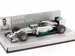 L. Hamilton Mercedes F1 W05 #44 World Champion Malaysia GP F1 2014 1:43 Minichamps