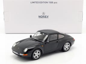 Porsche 911 (993) Carrera Coupe Year 1993 black 1:18 Norev