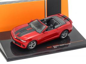 Chevrolet Camaro Convertible Construction year 2014 dark red metallic 1:43 Ixo