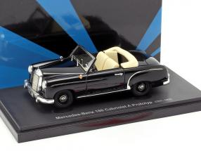 Mercedes-Benz 180 Cabriolet A prototype year 1953 black 1:43 AutoCult