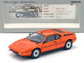 BMW M1 E26 Year 1978-1981 orange 1:18 Minichamps