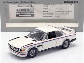 BMW 3.0 CSL Year 1973-75 white 1:18 Minichamps
