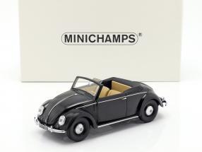 Volkswagen VW Käfer 1200 Convertible Hebmüller Baujahr 1949 schwarz 1:18 Minichamps