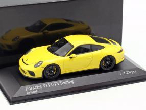 Porsche 911 (991 II) GT3 Touring year 2018 yellow 1:43 Minichamps
