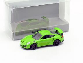 Porsche 911 GT3 RS year 2015 green 1:87 Minichamps