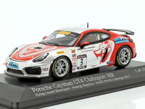 Porsche Cayman GT4 Clubsport MR #3 Pirelli World Challenge 2017 Baptista 1:43 Minichamps