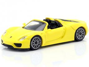 Porsche 918 Spyder year 2015 yellow 1:87 Minichamps