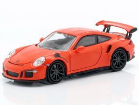 Porsche 911 GT3 RS Construction year 2015 lava orange 1:87 Minichamps