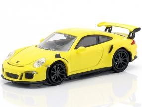 Porsche 911 GT3 RS year 2015 yellow 1:87 Minichamps