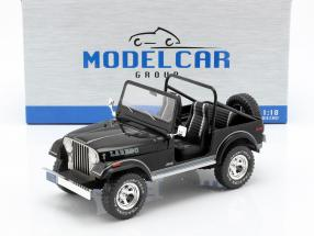 Jeep CJ-7 Laredo year 1976 black 1:18 Model Car Group