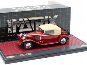 Bugatti Typ 46 Faux Cabriolet Veth & Zoon Baujahr 1930 rot / beige 1:43 Matrix