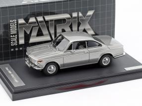 BMW 1602 Baur Coupe year 1967 silver 1:43 Matrix