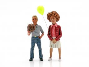 Figure Set 2 children with balloon and ball 1:18 LeMansMiniatures