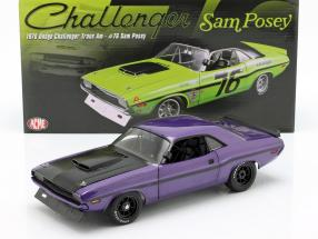 Dodge Challenger year 1970 violet 1:18