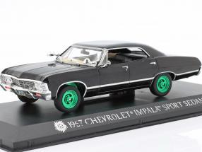 Chevrolet Impala Sport Sedan 1967 TV series Supernatural (2005) black / green 1:43 Greenlight
