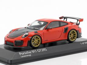 Porsche 911 (991 II) GT2 RS Baujahr 2018 lava orange 1:43 Minichamps