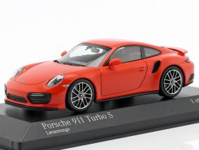 Porsche 911 (991 II) Turbo S year 2016 lava orange 1:43 Minichamps