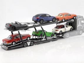 Lohr semitrailer car transporter for Mercedes-Benz Actros silver / black