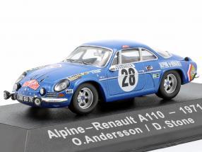 Alpine-Renault A1100 1600 #28 Winner Rallye Monte Carlo 1971 Andersson, Stone 1:43 Atlas