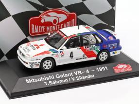 Mitsubishi Galant VR-4 #4 Rallye Monte Carlo 1991 Salonen, Silander 1:43 Atlas
