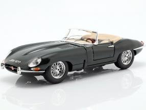 Jaguar E-Type Cabriolet year 1961 dark green 1:18 Bburago